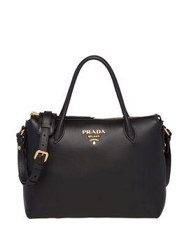 Daino Tote With Top Zip by Prada