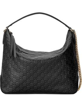 Medium Padlock Leather Hobo by Gucci