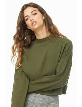 Waffle Knit Raglan Top by Forever 21