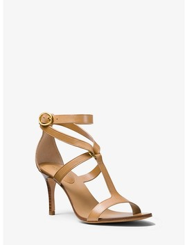 Ashley Calf Leather Sandal by Michael Kors Collection