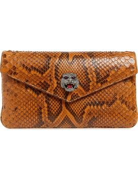 Broadway Genuine Python Envelope Clutch by Gucci