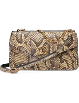 Thiara Genuine Python & Leather Shoulder Bag by Gucci