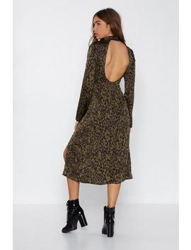 Jungle Boogie Satin Leopard Dress by Nasty Gal