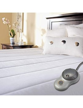 Sunbeam Quilted Polyester Heated Mattress Pad With Easy Set Pro Controller, Ultra Soft Muscle Soothing Comfort, 140 Thread Count, Twin by Sunbeam