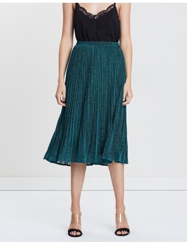 Sparkle Pleated Skirt by Whistles