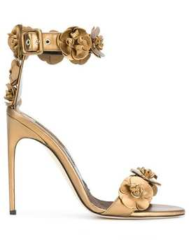 3 D Flower Detail Sandals by Brian Atwood