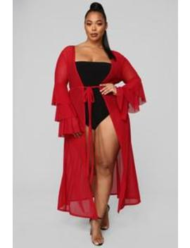 Love On Fire Cover Up   Red by Fashion Nova