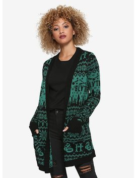 Harry Potter Slytherin Fair Isle Girls Flyaway Cardigan by Hot Topic