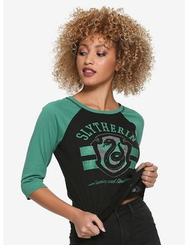 Harry Potter Slytherin Reversible Raglan Girls T Shirt by Hot Topic