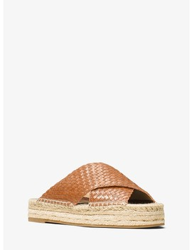 Destin Woven Leather Espadrille Slide by Michael Kors Collection
