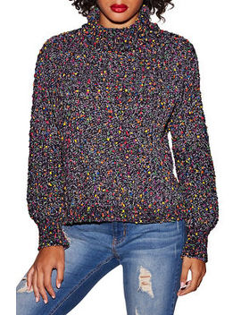 Multicolor Chenille Turtleneck Sweater by Boston Proper