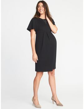Maternity Ponte Knit Sheath Dress by Old Navy