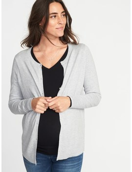 Maternity Crew Neck Cardi by Old Navy