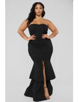 Gimme The Glitter Maxi Dress   Black by Fashion Nova