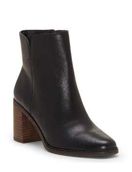 Nomi Leather Block Heel Booties by Lucky Brand