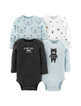 Baby Boy Carter's 4 Pack Bear Graphic Bodysuits by Kohl's
