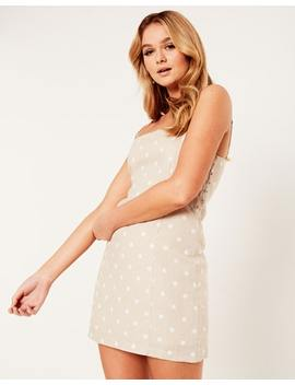 Linen Blend Slim Fit Dress by Glassons