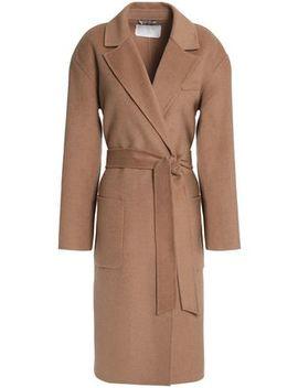 Belted Wool Blend Felt Coat by Day Birger Et Mikkelsen