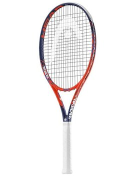 Head Graphene Touch Radical S Midplus 16x19 Blue/Red Tennis Racquet Strung With Complimentary Custom String Colors (Best Racket For Spin) by Head
