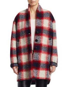 Gabrie Wool Flannel Blanket Coat by Isabel Marant Etoile