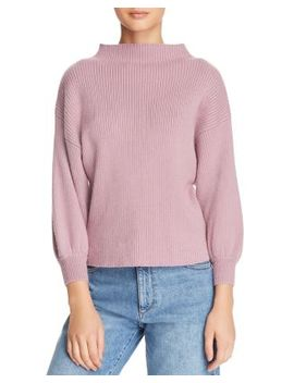 Funnel Neck Ribbed Sweater   100 Percents Exclusive by Bloomingdales