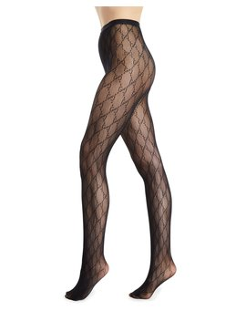 Gg Supreme Knit Tights by Gucci
