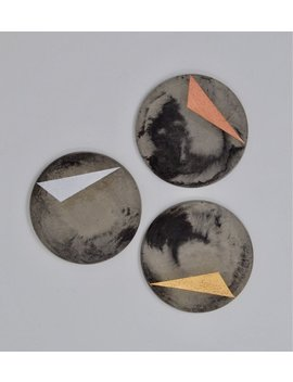 Marbled Metalic Concrete Coaster by Etsy