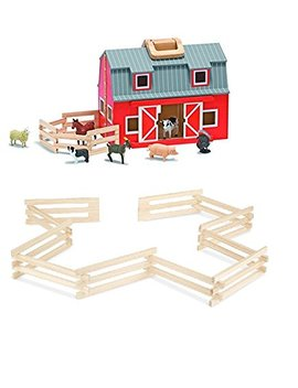 Melissa & Doug Fold & Go Barn And Horse Corral by Melissa & Doug