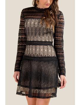 Kenna Lace A Line Dress by Francesca's