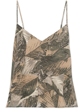 Jane Printed Silk Satin Camisole by L'agence