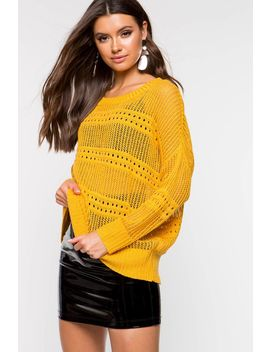 India Scoop Neck Sweater by A'gaci