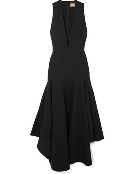 The Santana Ruffled Crepe Midi Dress by Solace London