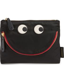 Happy Eyes Nylon Pouch by Anya Hindmarch