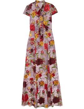 Roanne Floral Print Devoré Chiffon Maxi Dress by Alice + Olivia