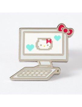 Hello Kitty Computer Enamel Pin // Hk Pin, Lapel Pin, Pin Game, Pin Game Strong by Etsy