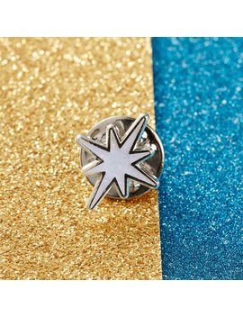 Seconds Sale* Christmas Holographic Glitter Star Enamel Pin // Christmas Pin, Xmas Pins // Ep167 by Etsy