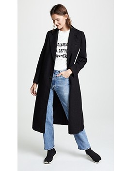 Tailored 3 Stripe Wool Coat by Y 3