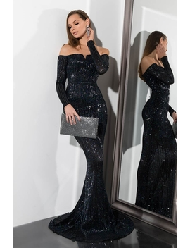 Take Me To The Ball Sequin Gown by Akira