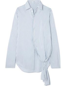Asymmetric Striped Silk Shirt by Loewe