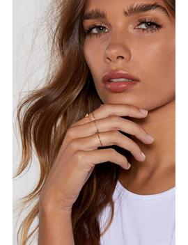 Feeling A Little Delicate 4 Pc Ring Set by Nasty Gal