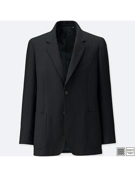 Men Uniqlo U Wool Blend Suit Jacket by Uniqlo