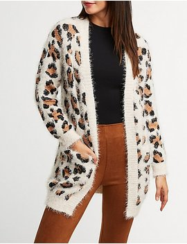 Leopard Open Front Cardigan by Charlotte Russe