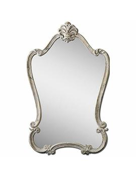 Uttermost 12833 Walton Hall Antique Mirror, White by Uttermost