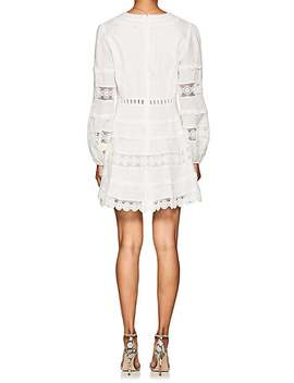 Castile Crochet Inset Linen Minidress by Zimmermann