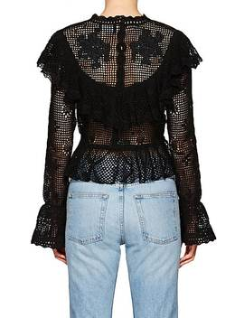 Castile Floral Cotton Crochet Top by Zimmermann