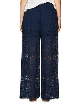 Castile Cotton Silk Eyelet Wide Leg Pants by Zimmermann