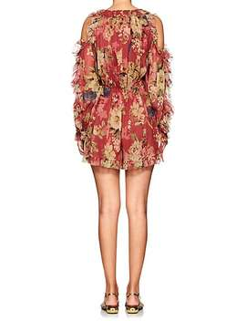 Melody Floral Silk Cutout Romper by Zimmermann