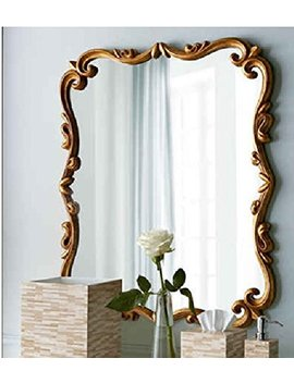 Mdf Decorative Frame Antique Gold Wall Mirror by Mountain Village