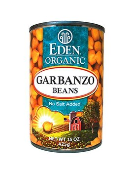 Eden Organic Garbanzo Beans, No Salt Added, 15 Ounce Cans (Pack Of 12) by Eden