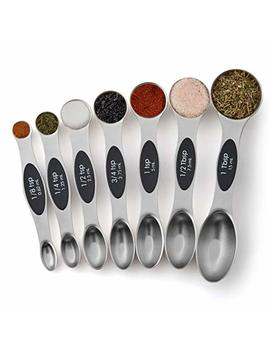 Spring Chef Magnetic Measuring Spoons Set, Dual Sided, Stainless Steel, Fits In Spice Jars, Set Of 7 by Spring Chef